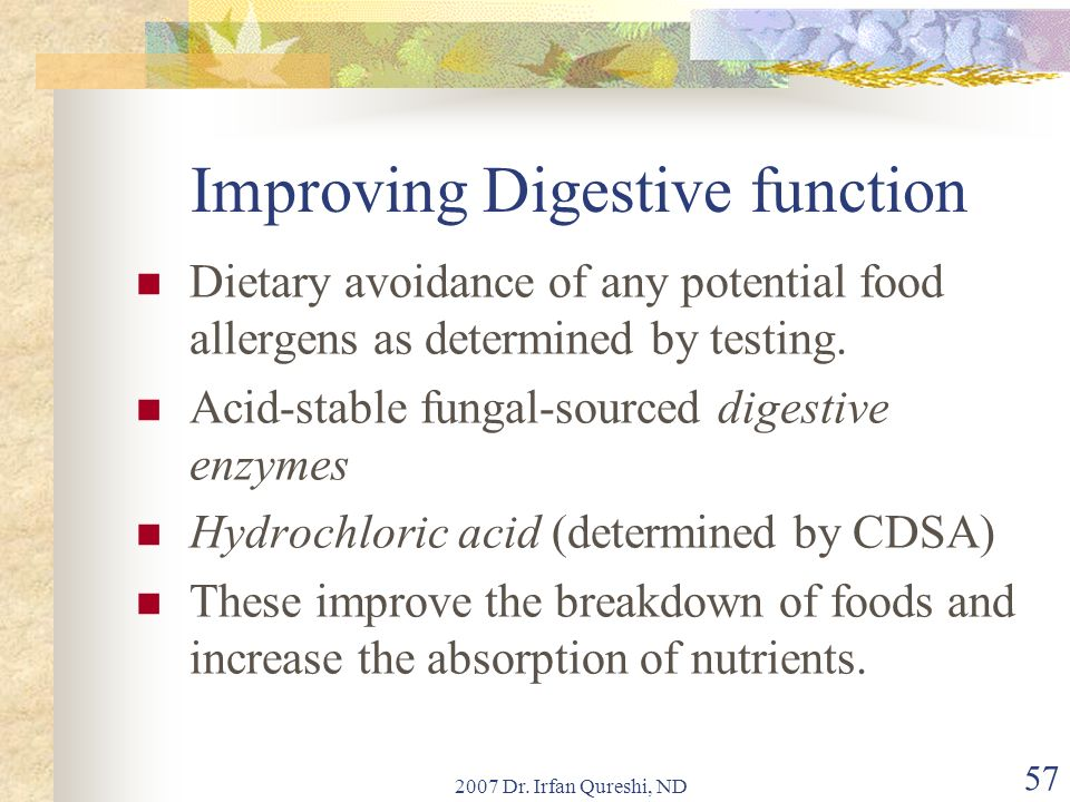 Improving Digestive function