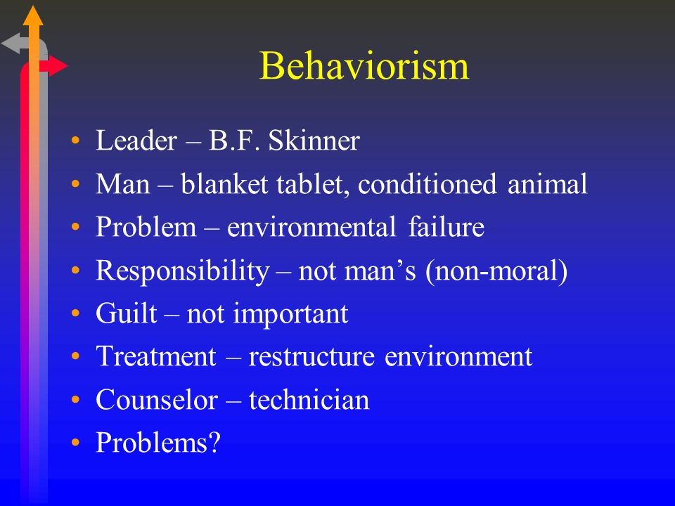 Behaviorism Leader – B.F. Skinner