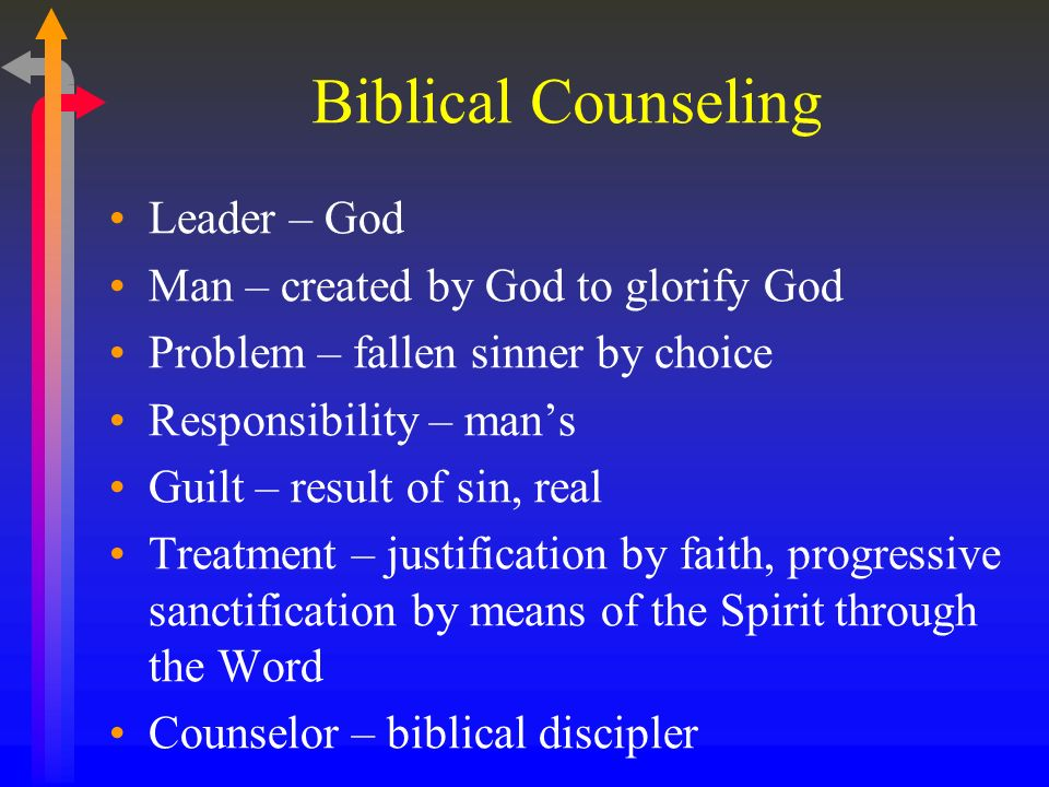 Biblical Counseling Leader – God Man – created by God to glorify God