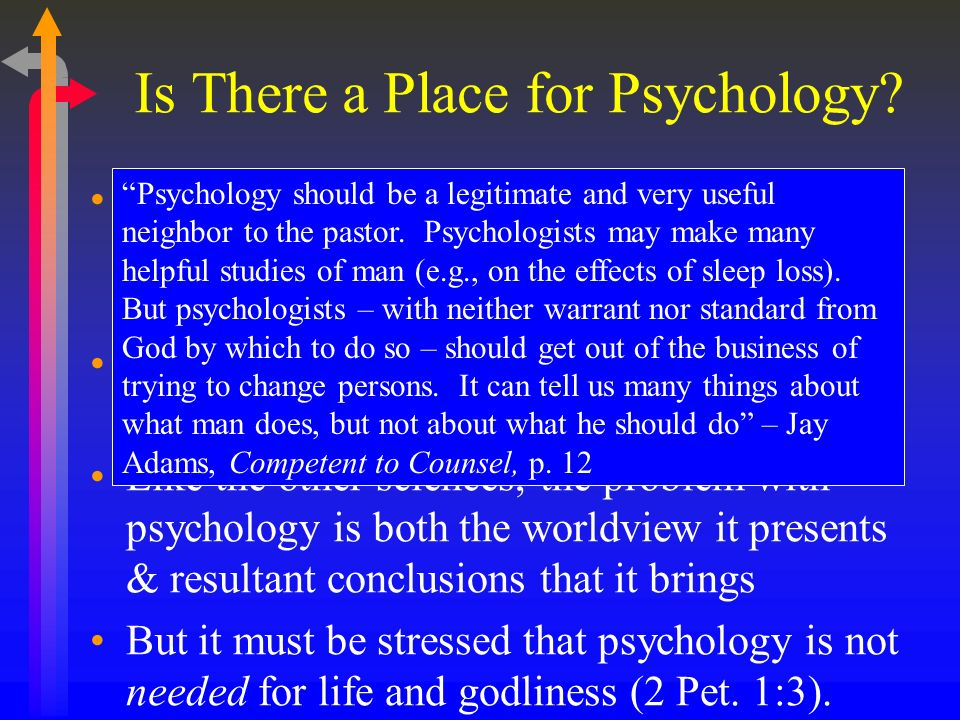 Is There a Place for Psychology