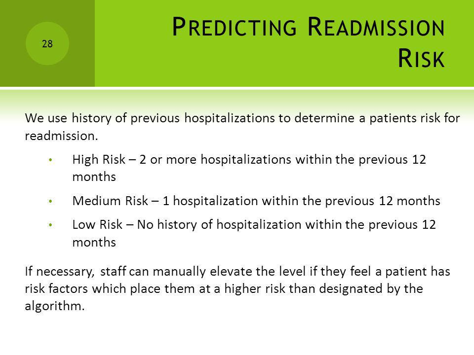 Predicting Readmission Risk
