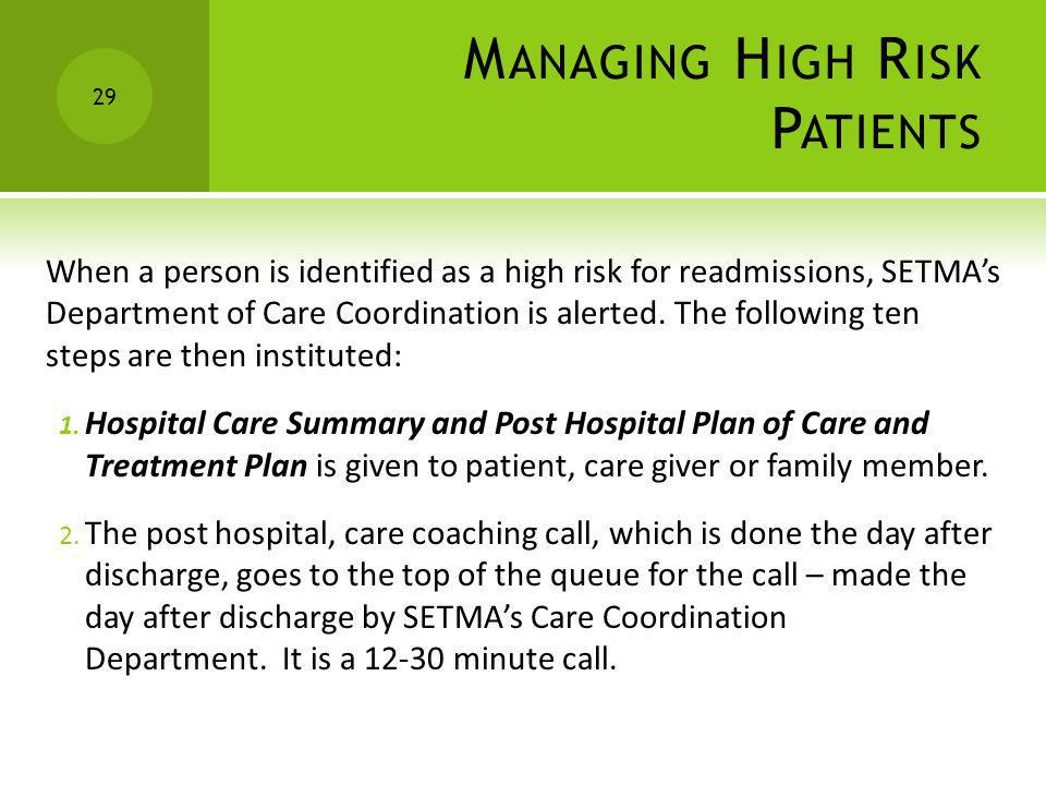Managing High Risk Patients