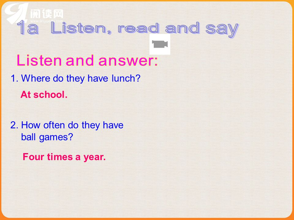 1a Listen, read and say Listen and answer: