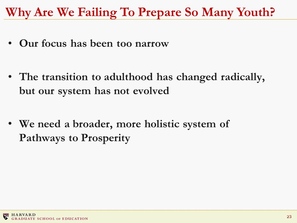 Why Are We Failing To Prepare So Many Youth