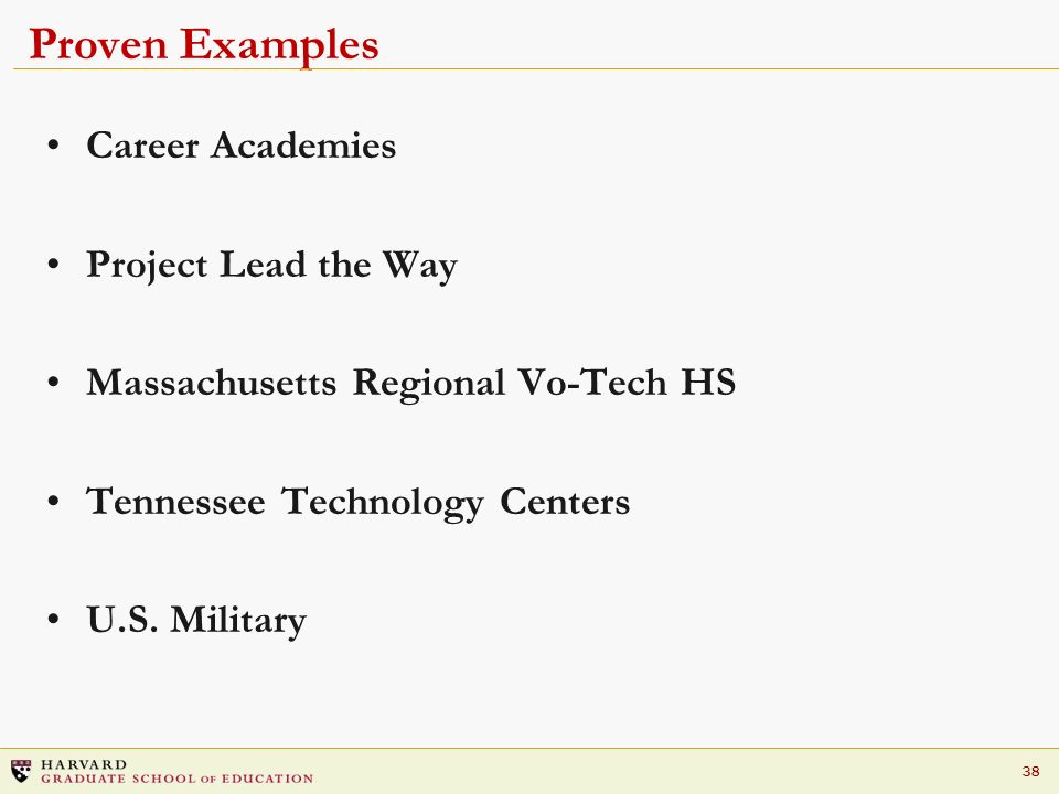 Proven Examples Career Academies Project Lead the Way