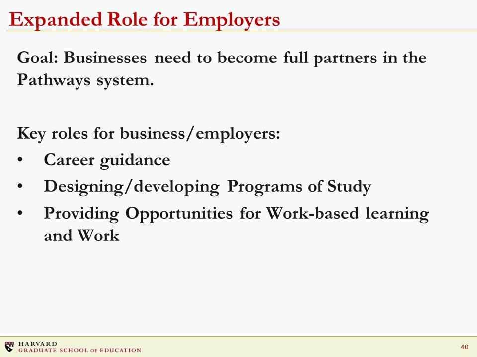 Expanded Role for Employers