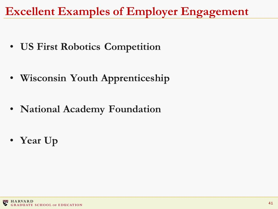 Excellent Examples of Employer Engagement