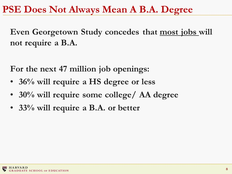 PSE Does Not Always Mean A B.A. Degree