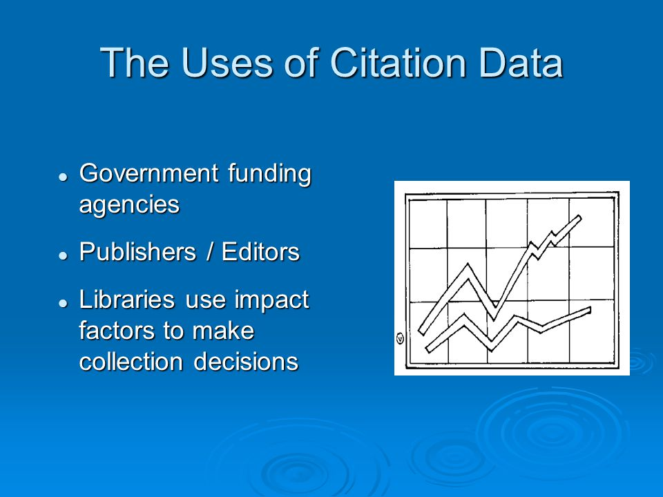 The Uses of Citation Data