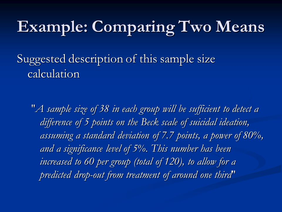 Example: Comparing Two Means