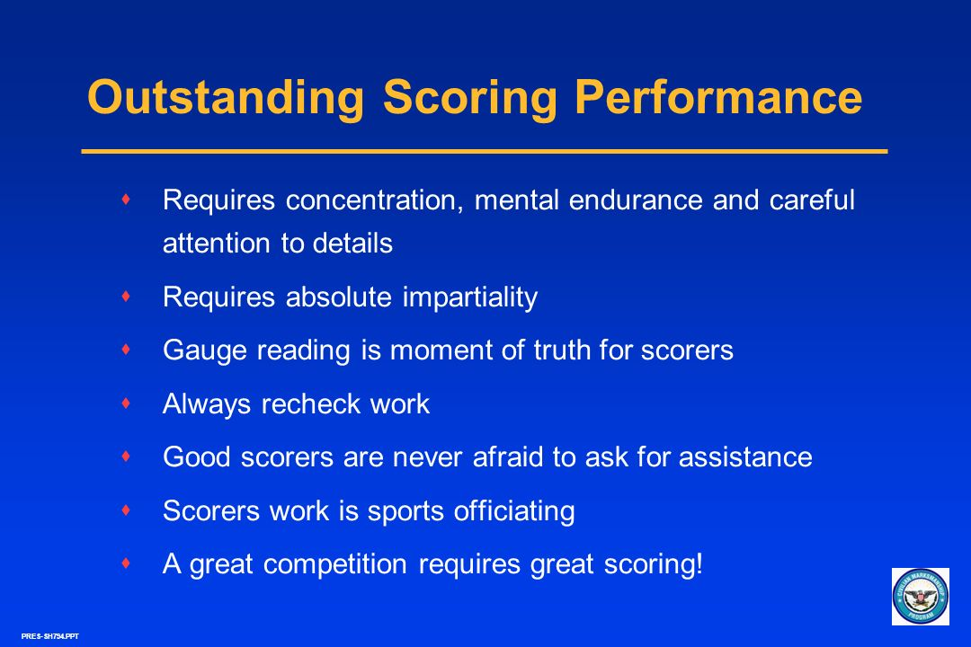 Outstanding Scoring Performance