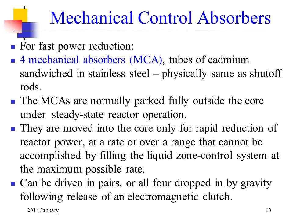 Mechanical Control Absorbers