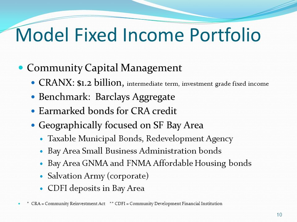 Model Fixed Income Portfolio