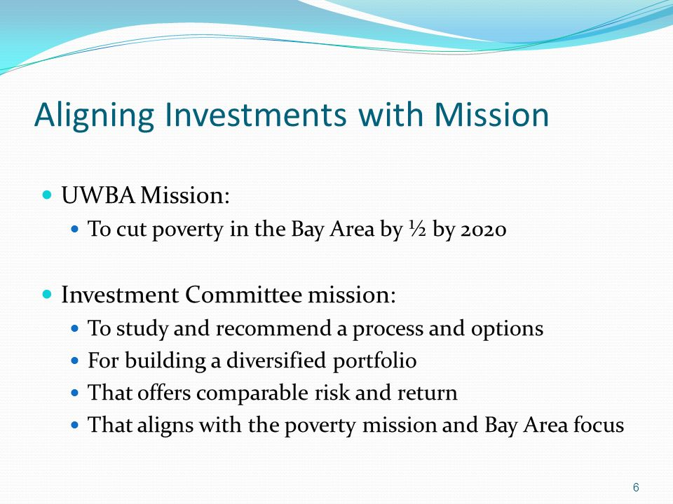 Aligning Investments with Mission