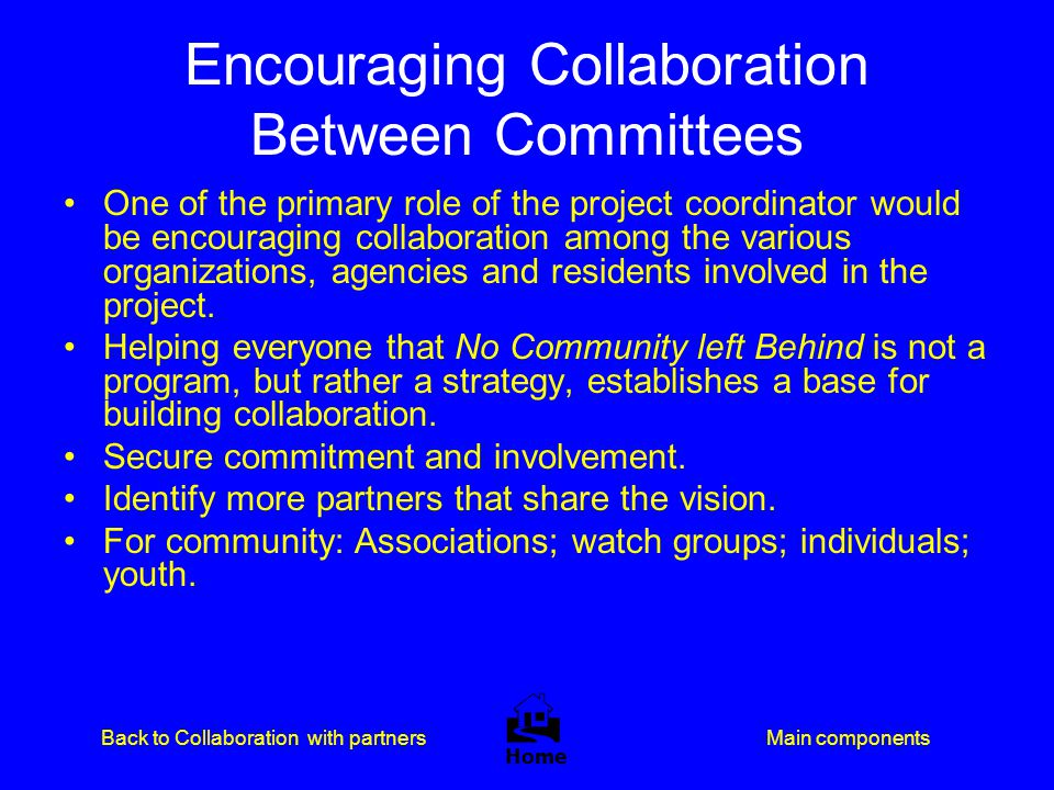 Encouraging Collaboration Between Committees