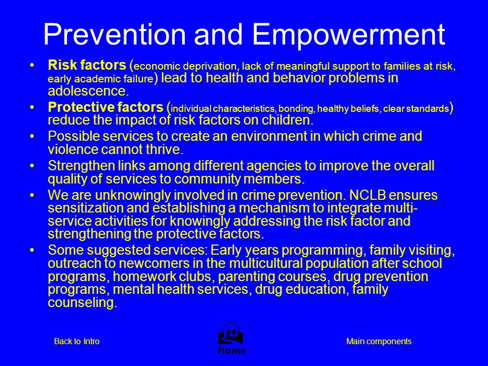Prevention and Empowerment