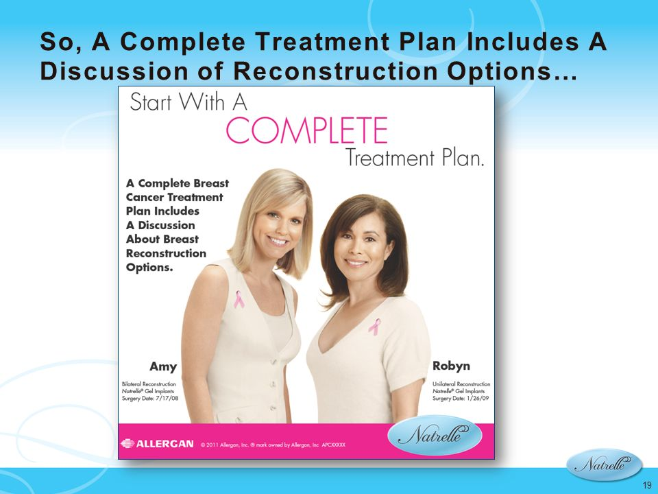 So, A Complete Treatment Plan Includes A Discussion of Reconstruction Options…