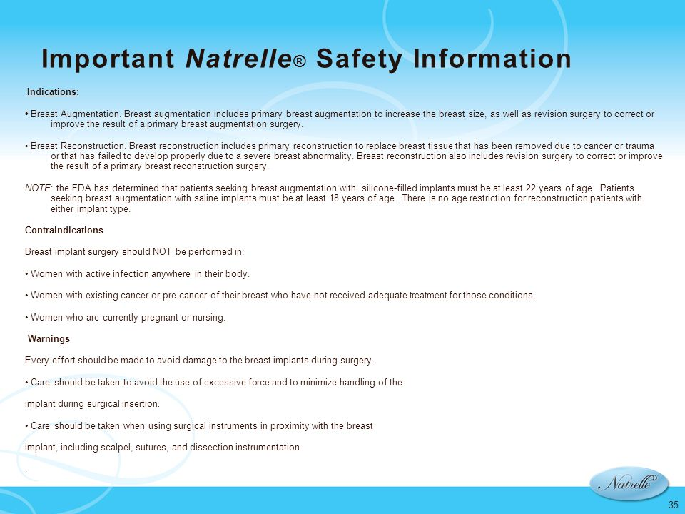 Important Natrelle® Safety Information