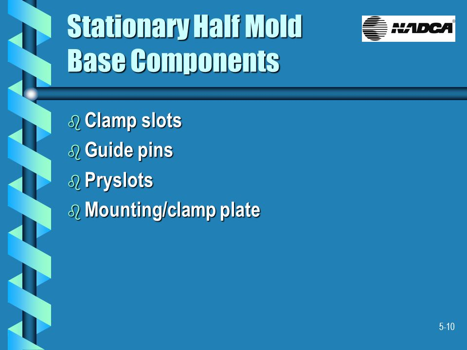 Stationary Half Mold Base Components