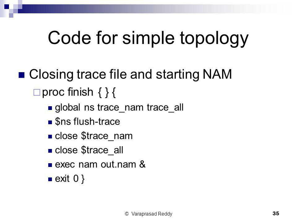 Code for simple topology