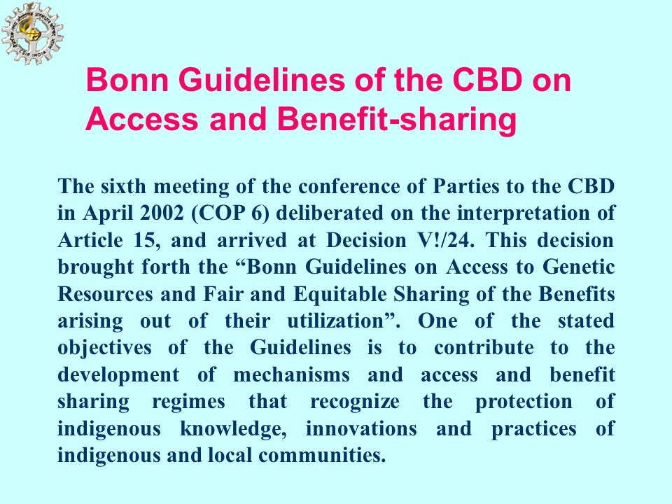 Bonn Guidelines of the CBD on Access and Benefit-sharing