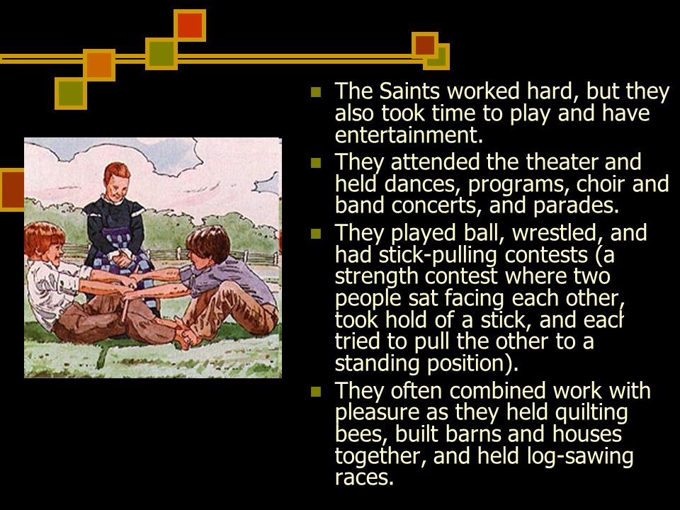 The Saints worked hard, but they also took time to play and have entertainment.