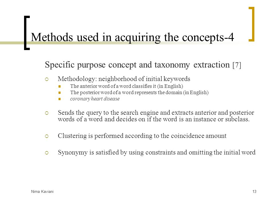 Methods used in acquiring the concepts-4