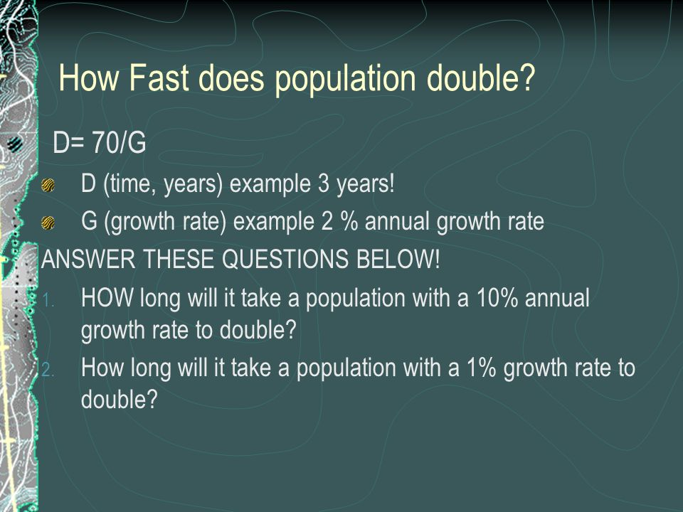 How Fast does population double