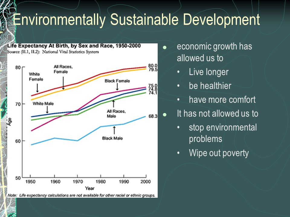Environmentally Sustainable Development