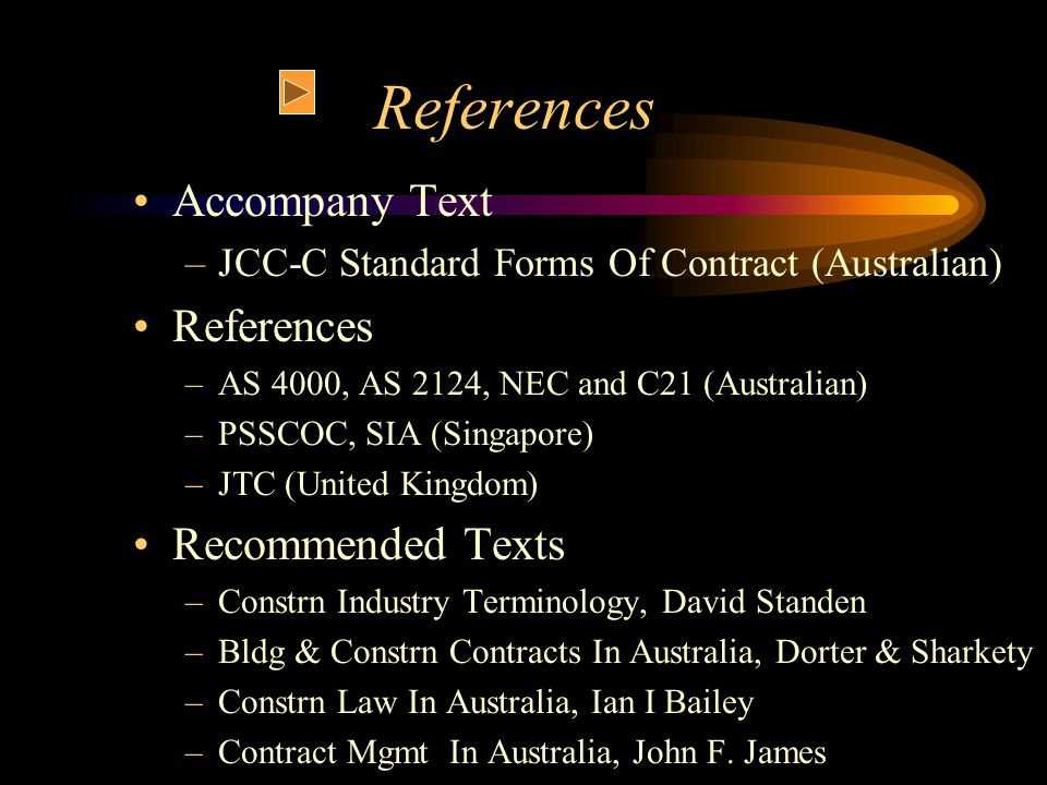 References Accompany Text References Recommended Texts