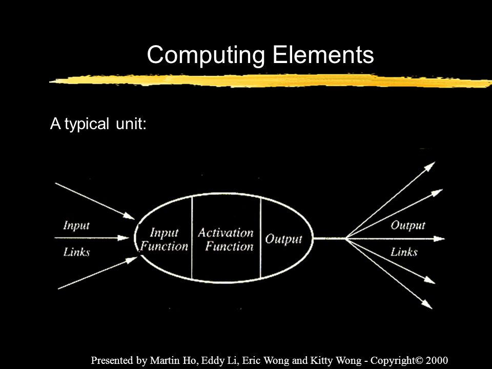 Computing Elements A typical unit: