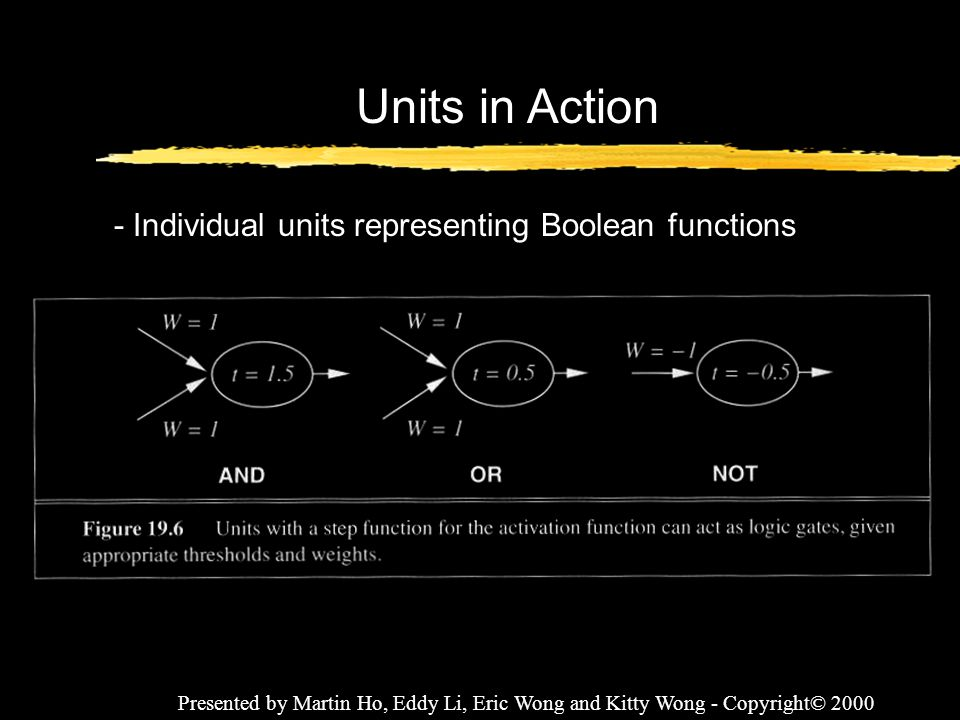 Units in Action - Individual units representing Boolean functions