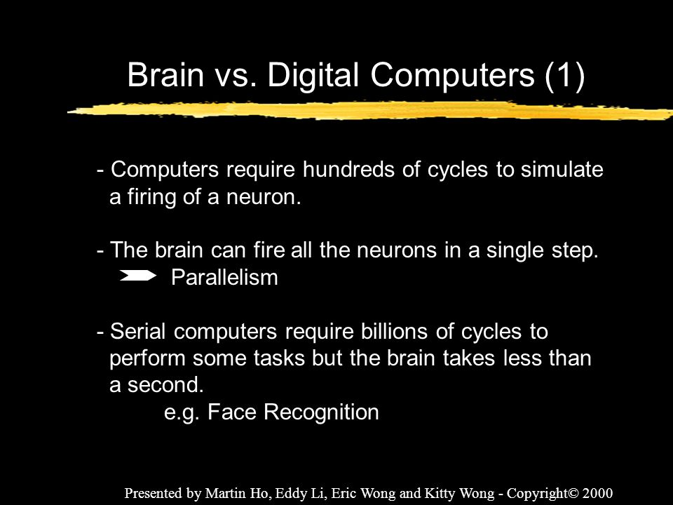Brain vs. Digital Computers (1)
