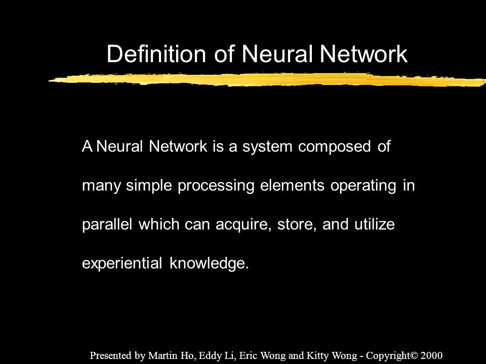 Definition of Neural Network