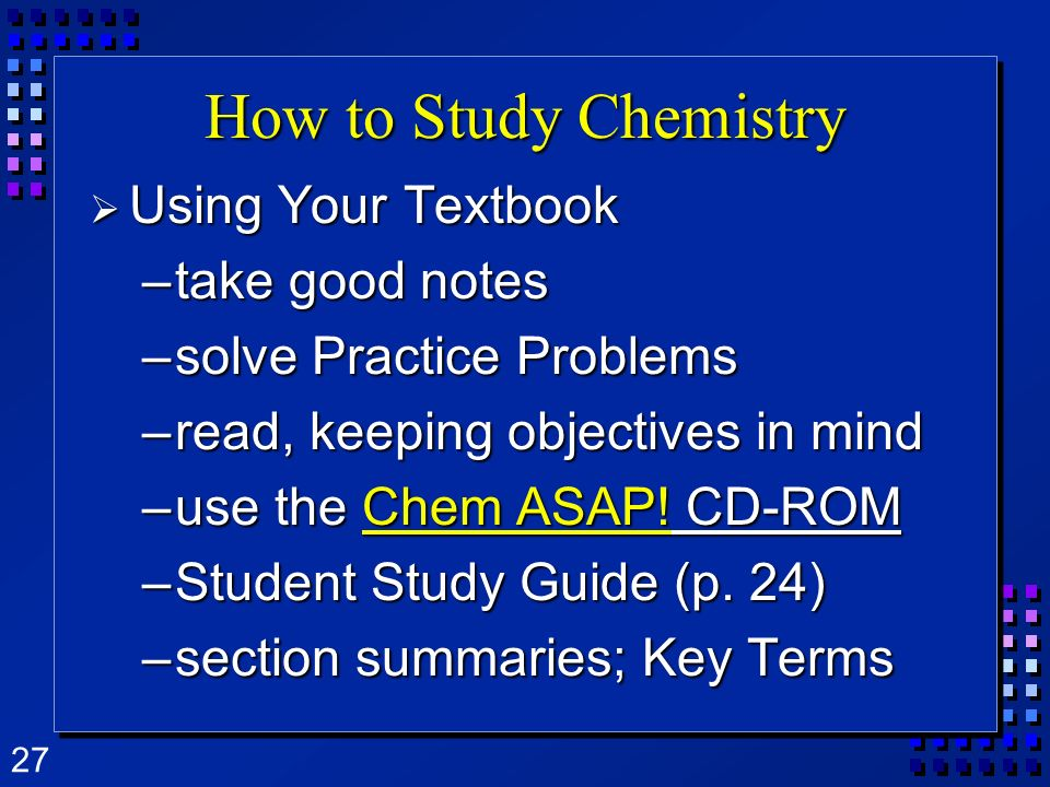 How to Study Chemistry Using Your Textbook take good notes