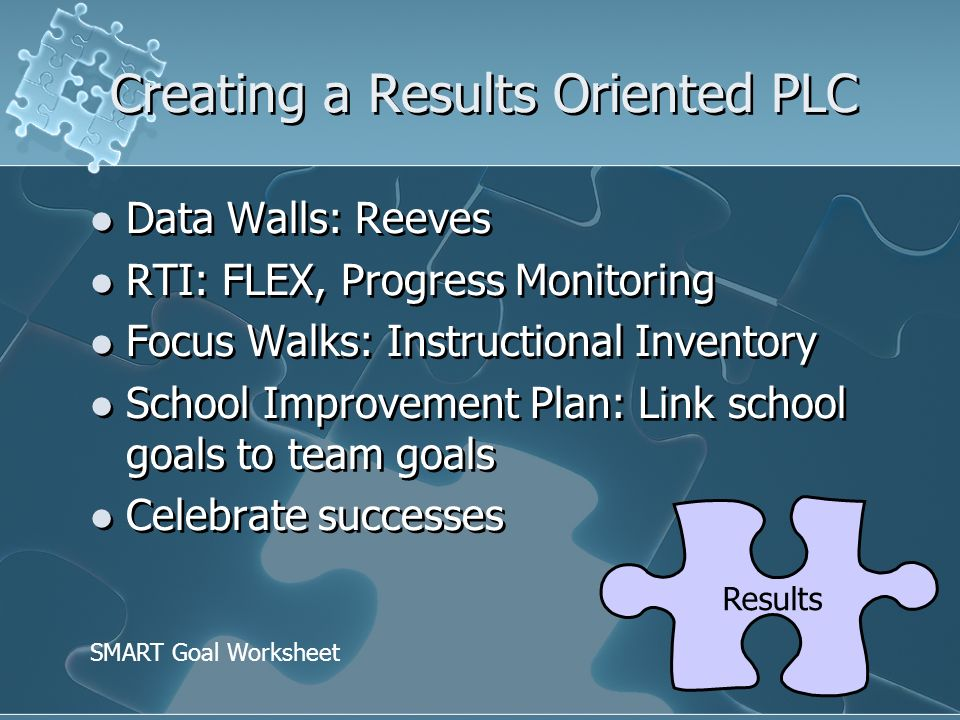 Creating a Results Oriented PLC