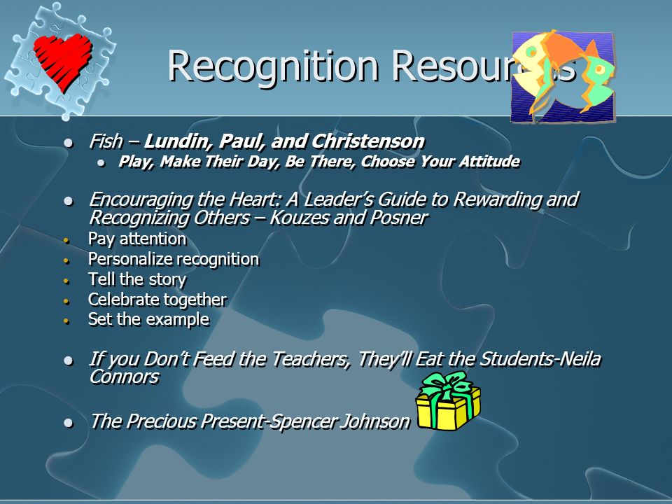 Recognition Resources