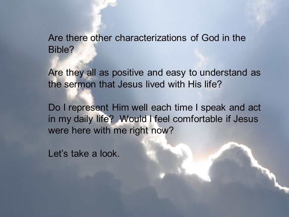 Are there other characterizations of God in the Bible
