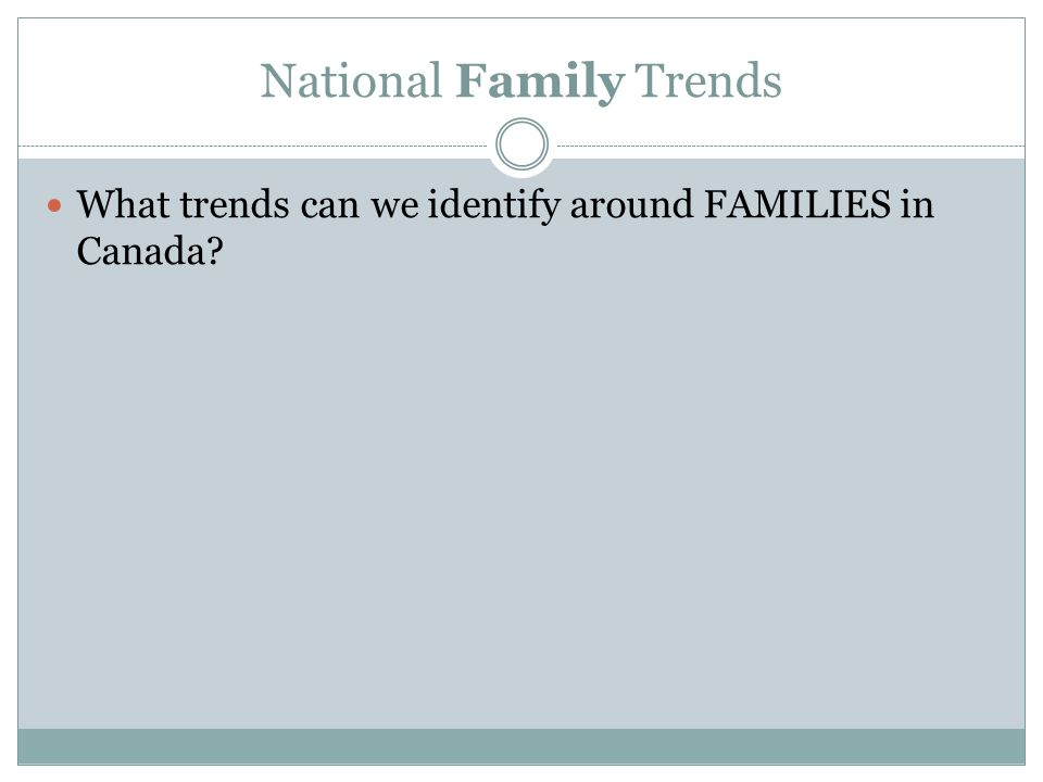 National Family Trends