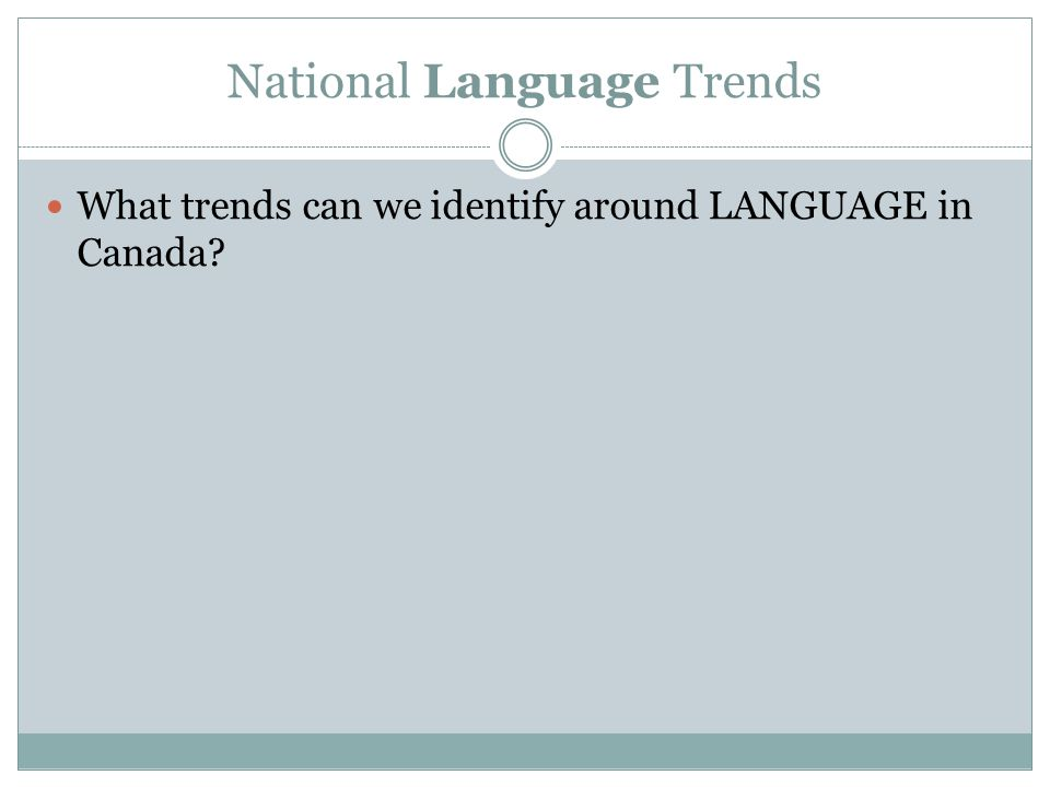 National Language Trends