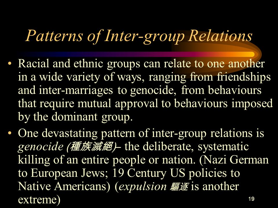 Patterns of Inter-group Relations