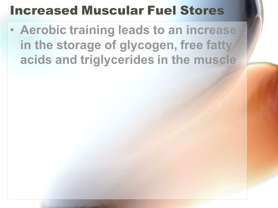 Increased Muscular Fuel Stores