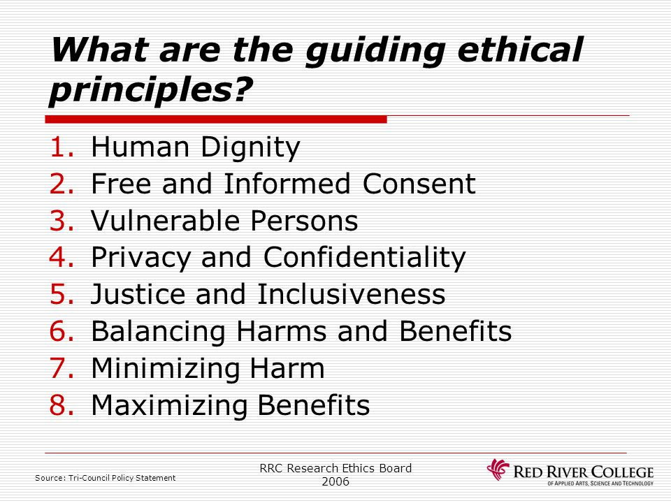 What are the guiding ethical principles