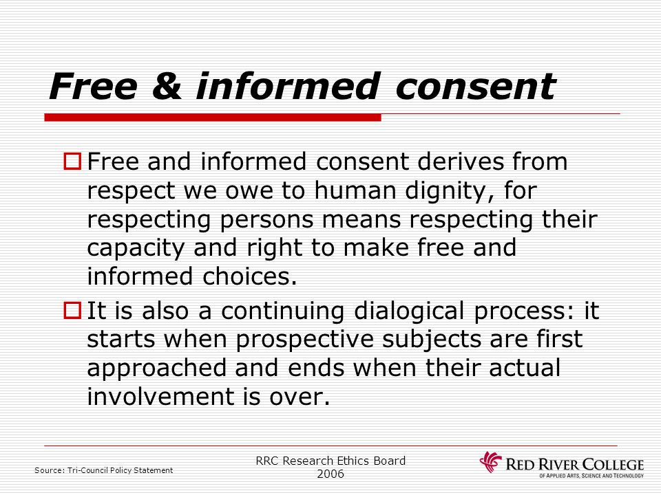 Free & informed consent