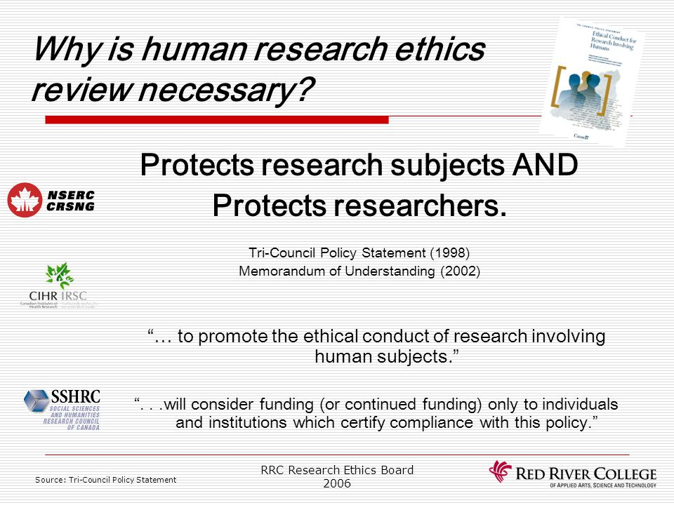 Why is human research ethics review necessary