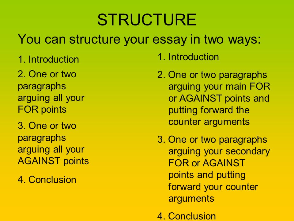 How To Write A Discursive Essay  Ppt Video Online Download Structure You Can Structure Your Essay In Two Ways Introduction How To Stay Healthy Essay also Essay On High School Experience  Project Management Assignment Help