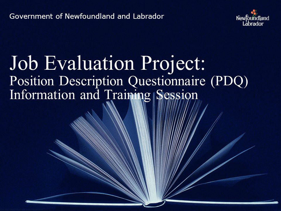 Introductions Agenda: Provide you with background and context of the new Job Evaluation System.