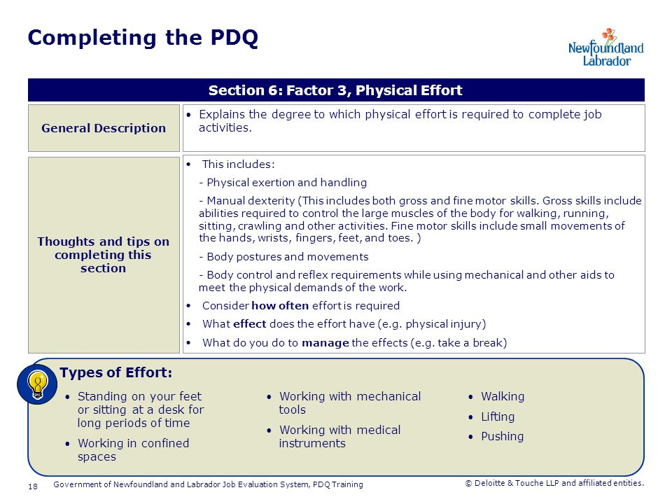 Completing the PDQ Section 7: Factor 4, Concentration