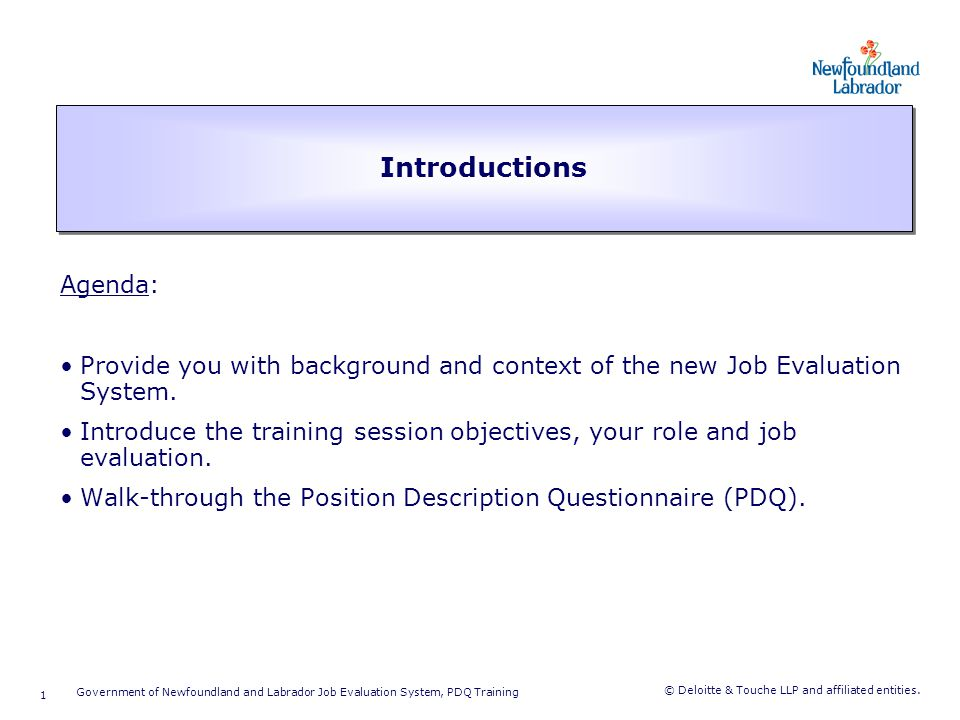 Training Session Objectives