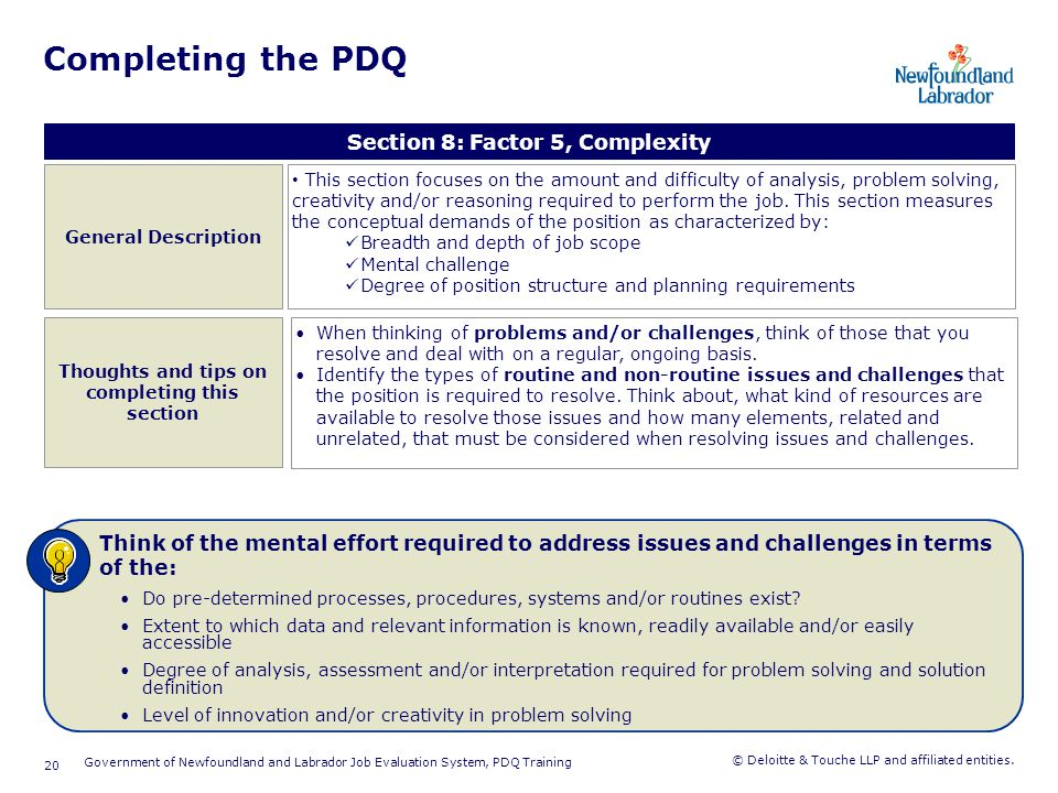 Completing the PDQ Section 9: Factor 6, Accountability and Decision-Making. General Description.